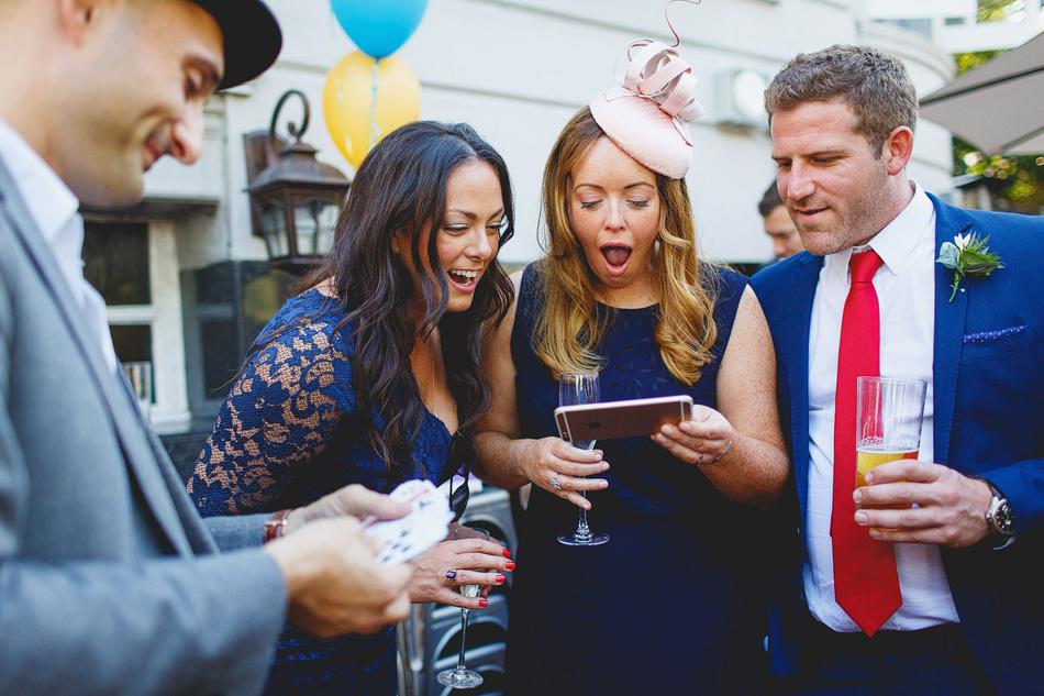 London wedding photographer Magician