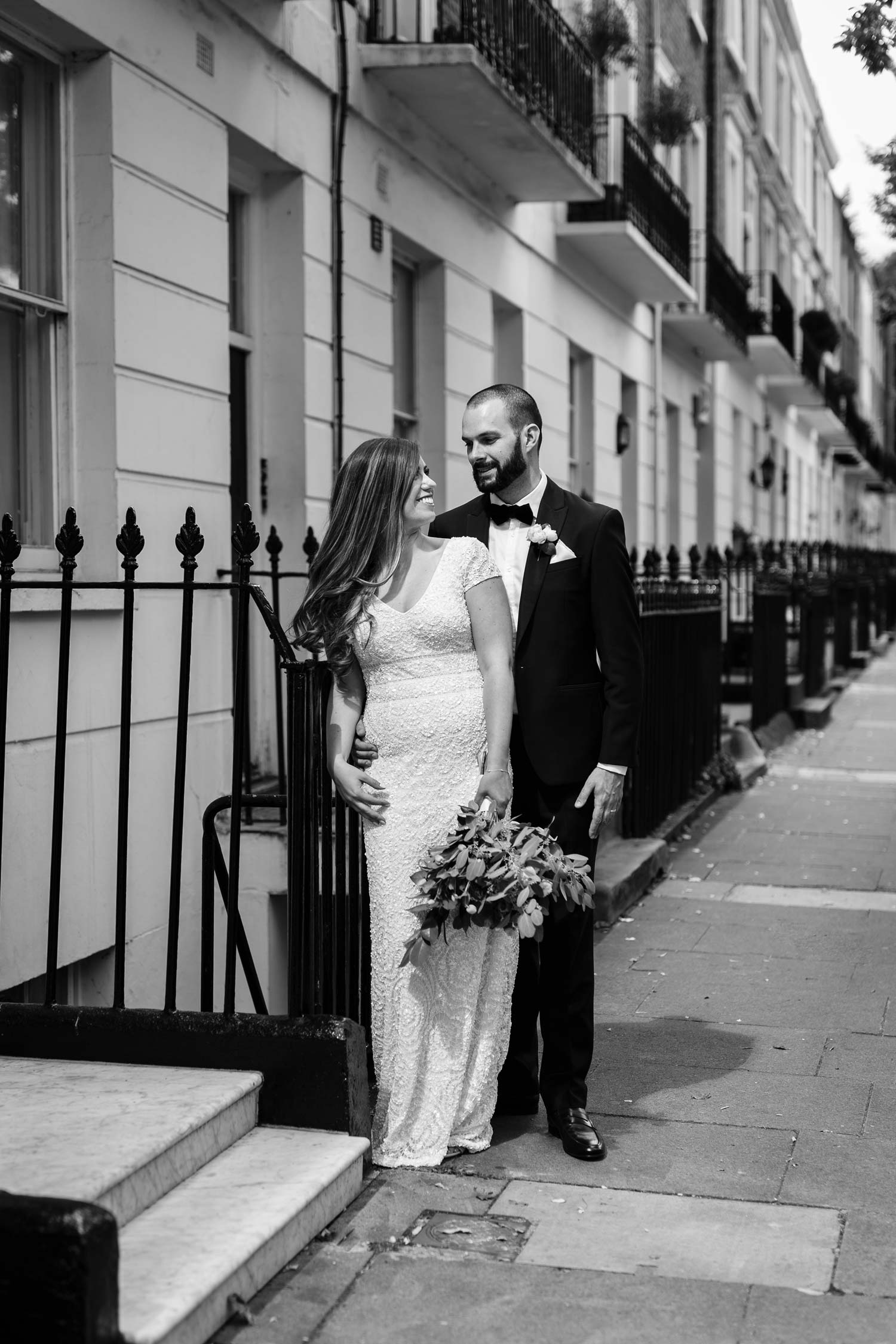 A couple get married at Asia House - London wedding photographer