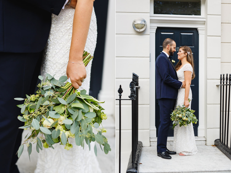 Wedding portraits in Marylebone - London wedding photographer