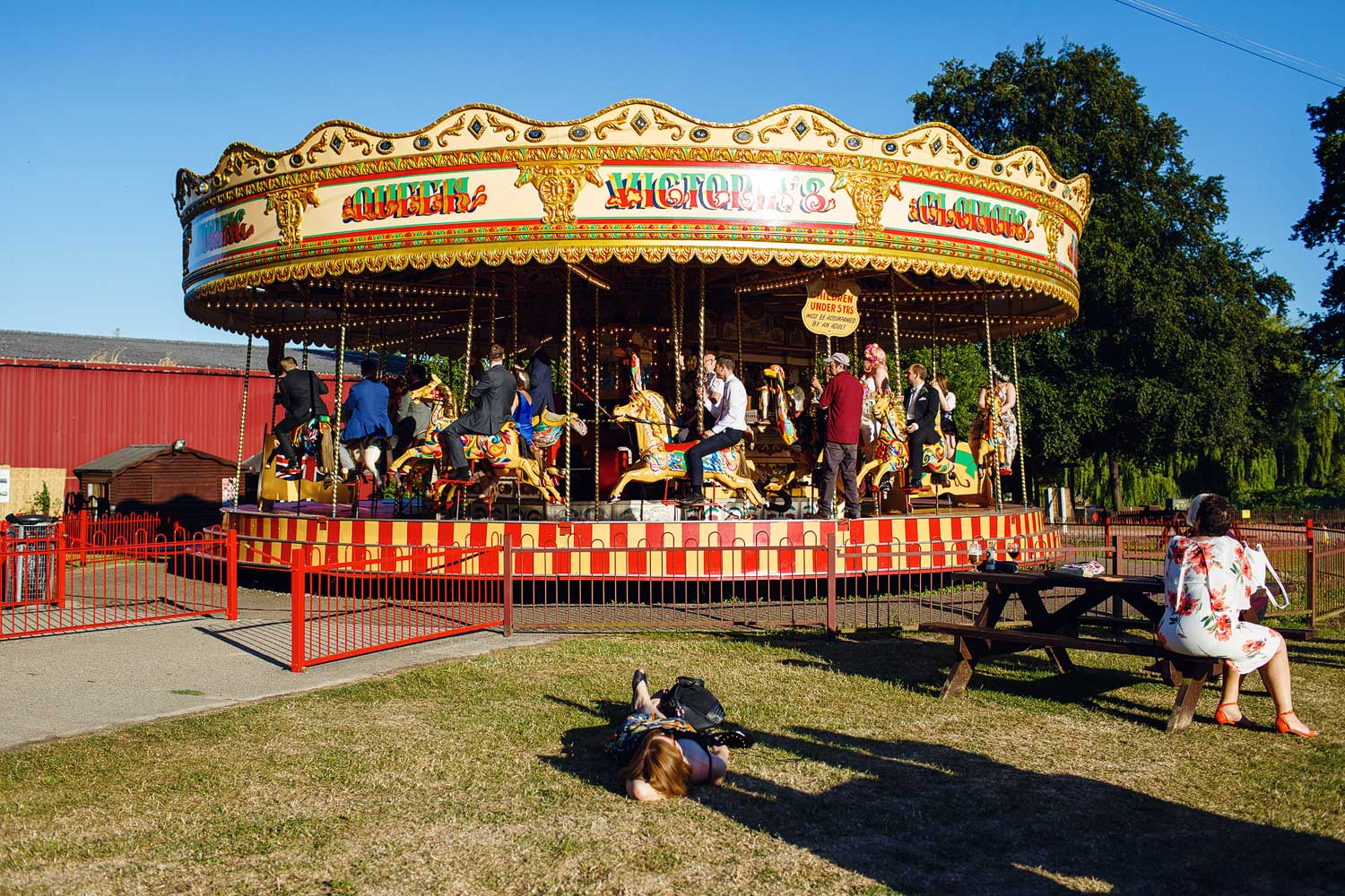 A carousel at Bressingham Hall