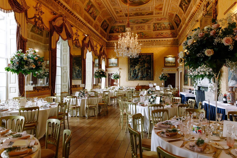 The reception room at Brocket Hall