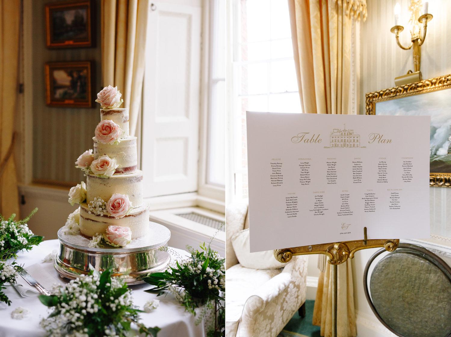 A wedding cake at Brocket Hall