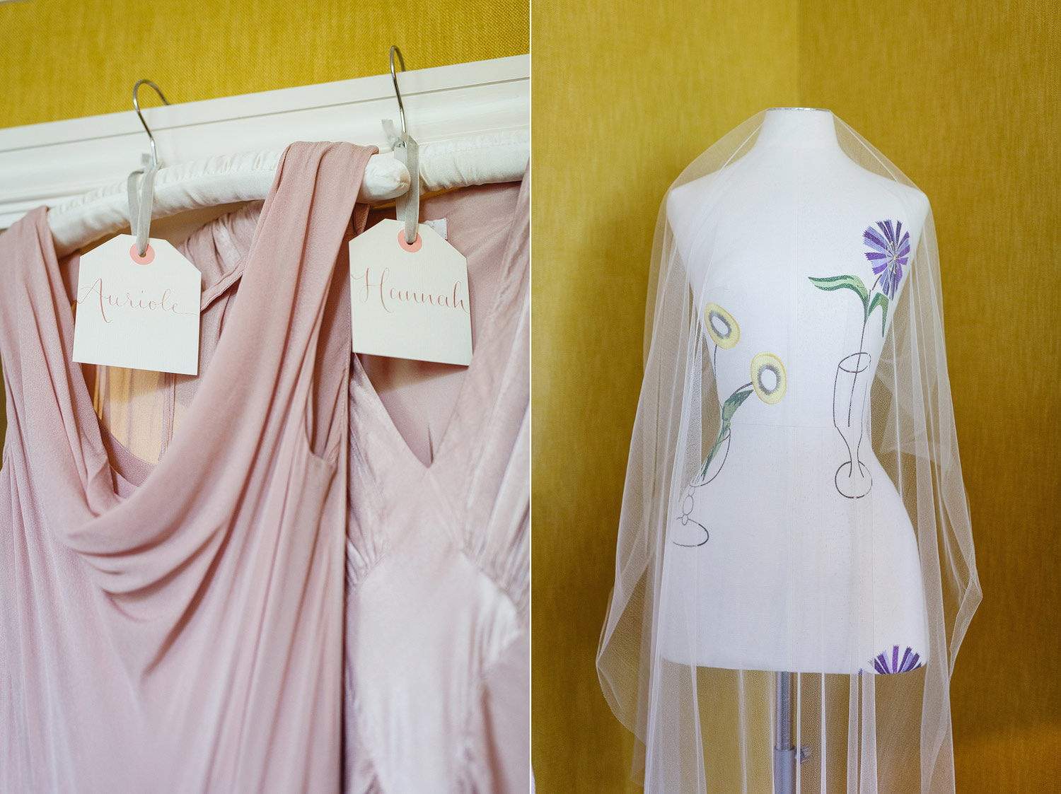 Bridesmaids dresses at Dorset Square Hotel - London wedding photographer