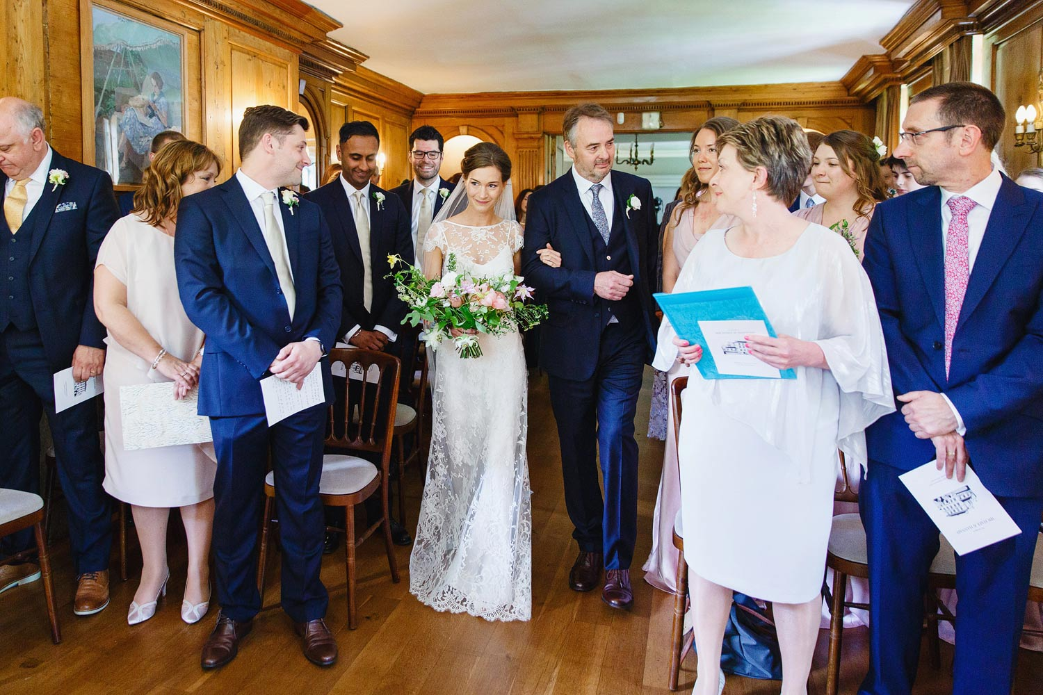BRIDE AND FATHER OF THE BRIDE at Burgh House Museum - London wedding photographer