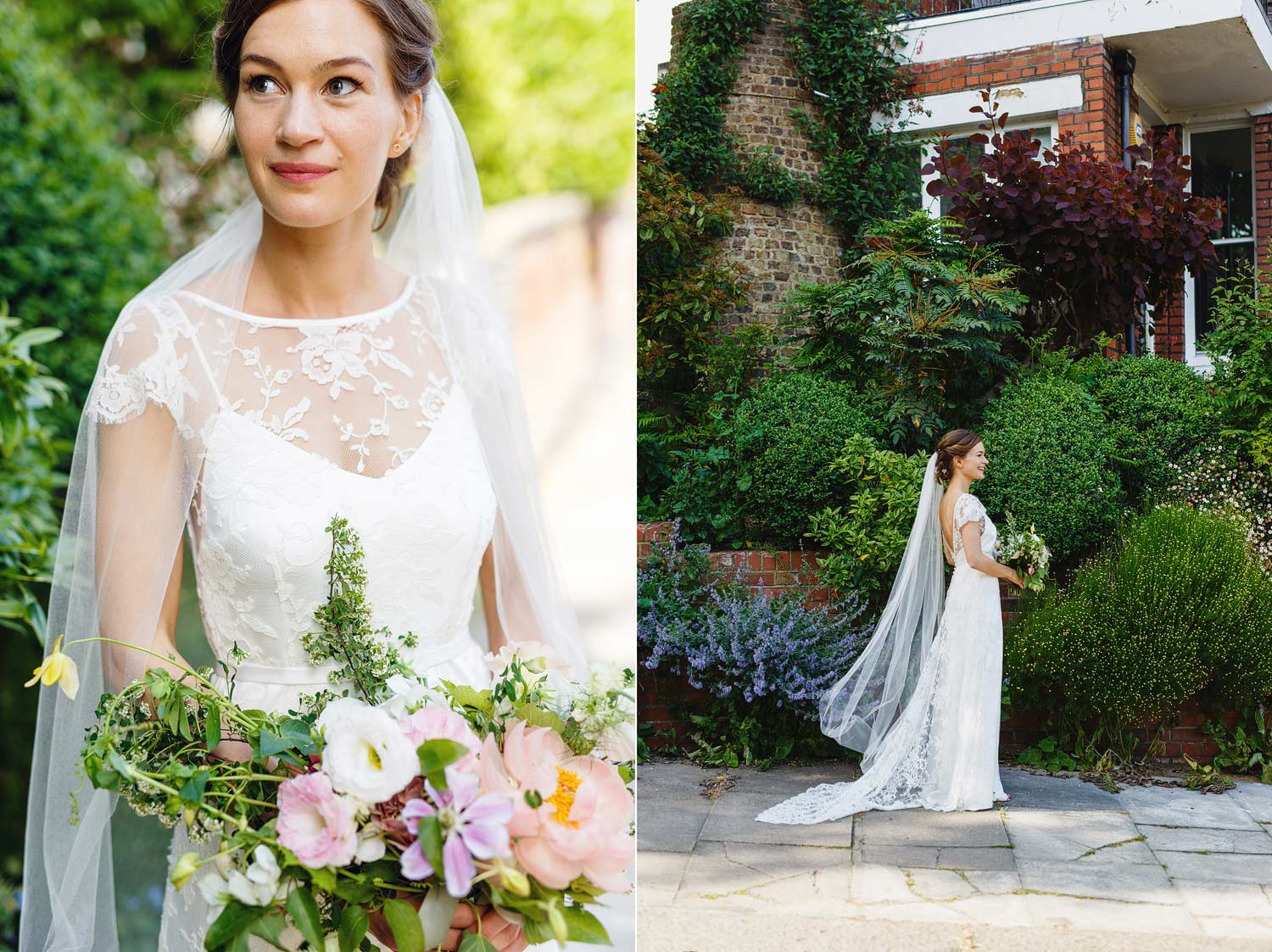 A bridal portrait in Hampstead - London wedding photographer