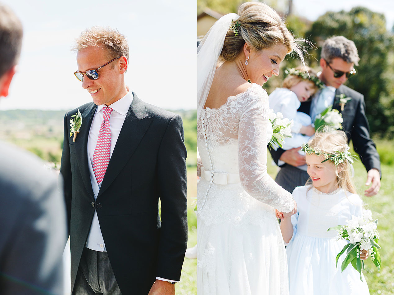 The bride and groom at their Chateau Rigaud wedding in France - French wedding photographer