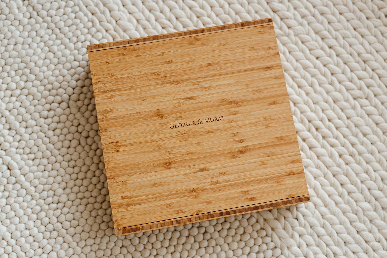 A beautiful bamboo box from Folio Albums