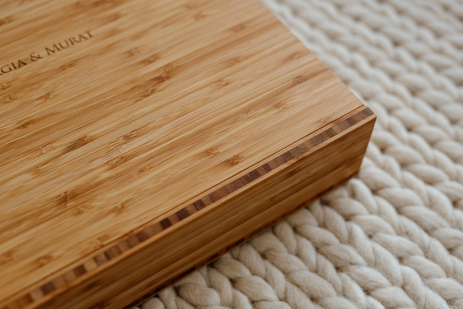 Stunning bamboo box from Folio Albums