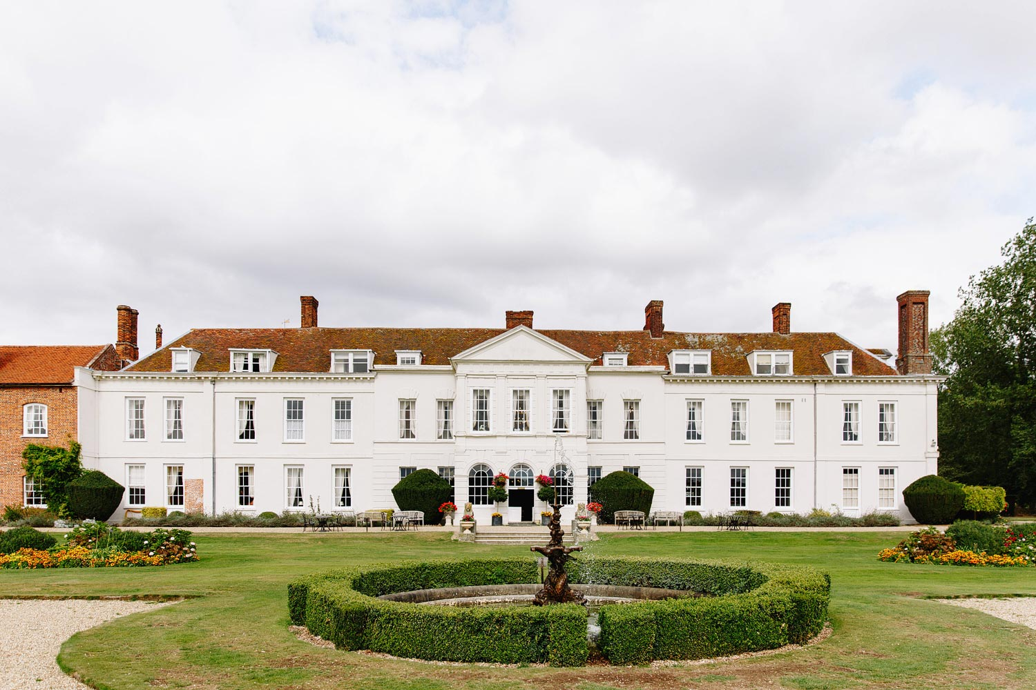 An external photograph of Gosfield Hall