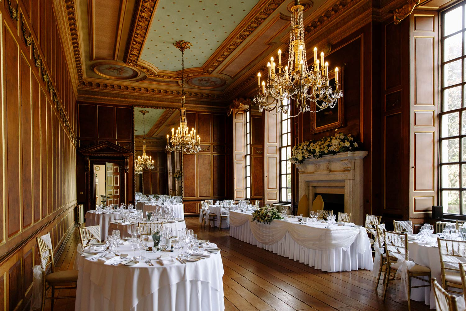 The grand Salon at Gosfield Hall