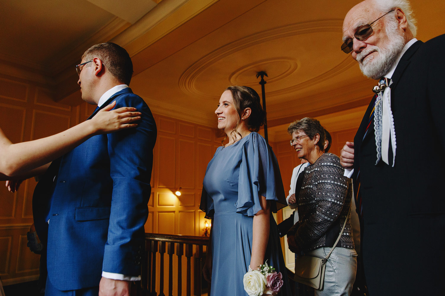 A receiving line at Gosfield Hall