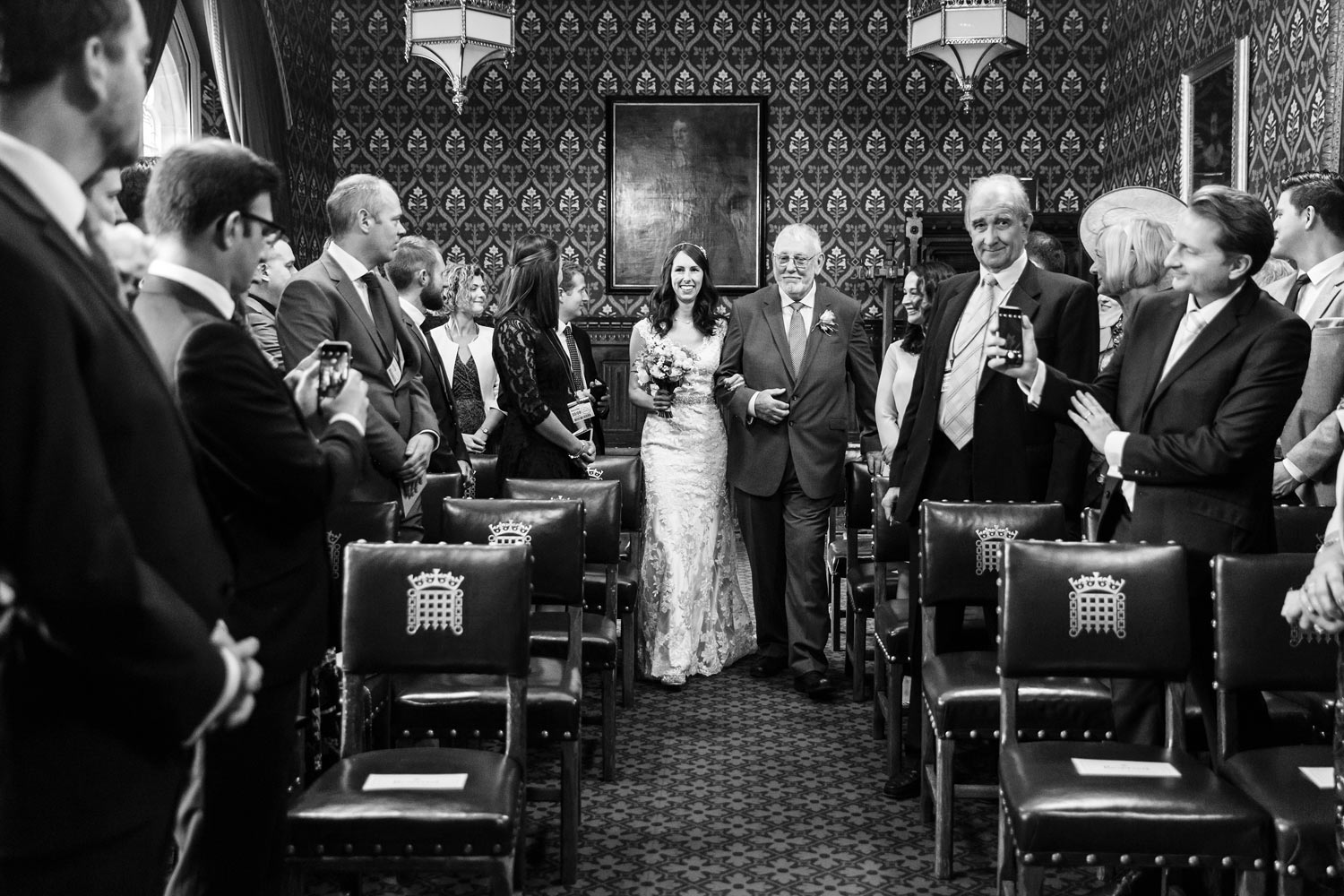 A couple get married at the House of Commons - London wedding photographer