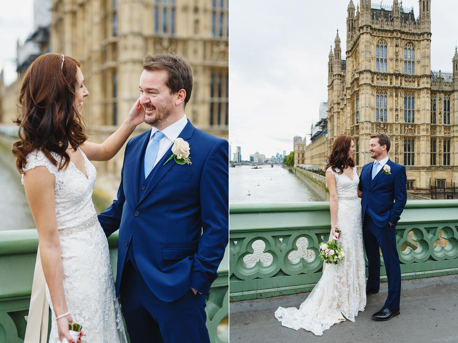 A couple get married at the House of Commons - London wedding photographer - Westminster Bridge