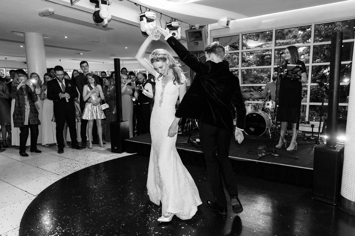 The first wedding dance at the Roof Gardens in Kensington - London wedding photographer