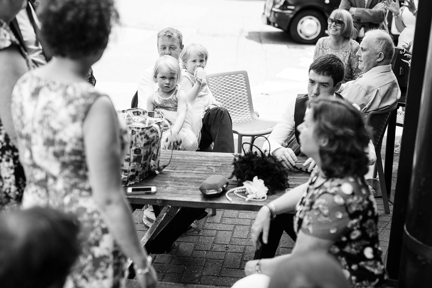 Cheeky flowergirls at a wedding at Stoke Newington Town Hall - London wedding photographer
