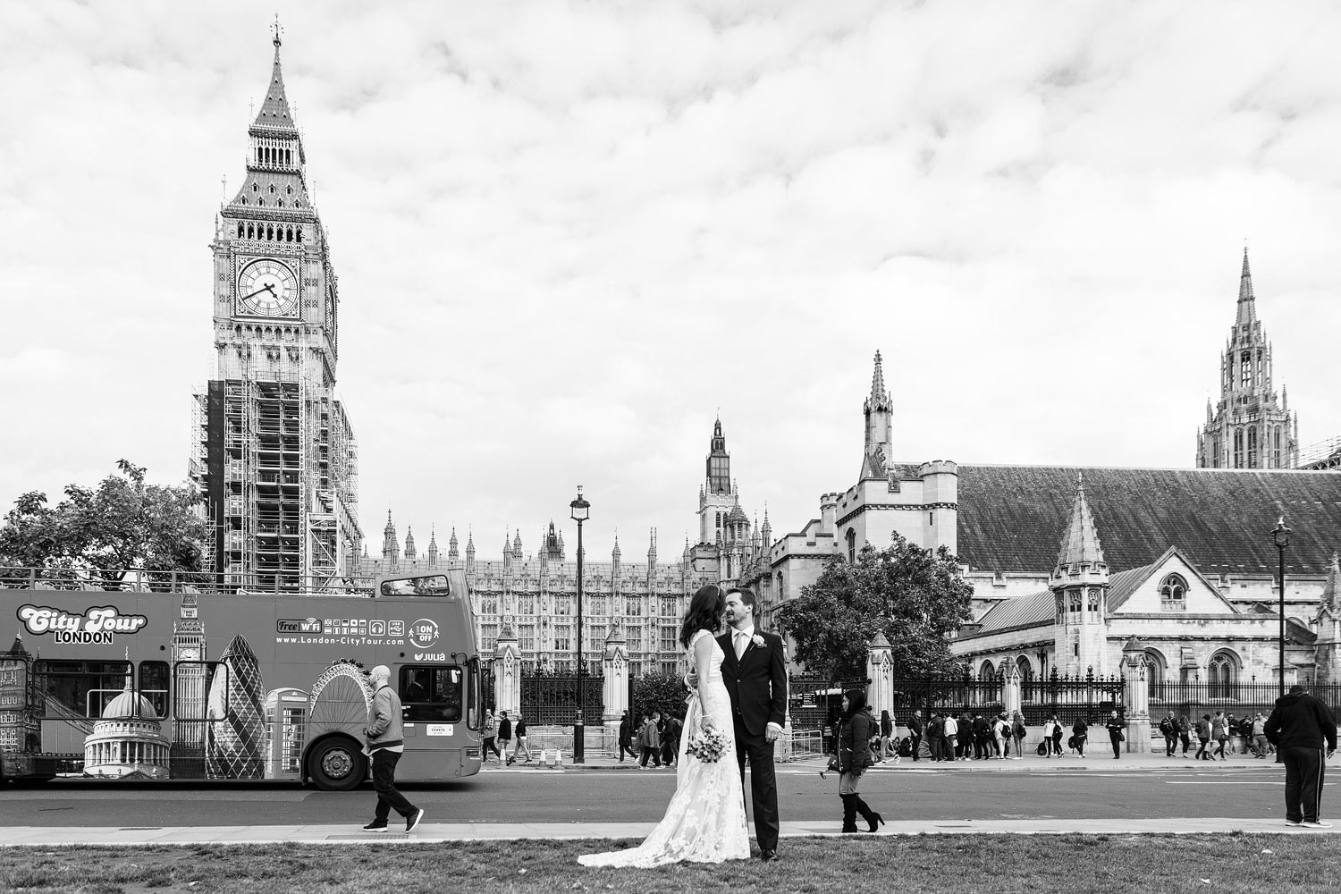 Kate and James at their wedding at the House of Commons - London wedding photographer