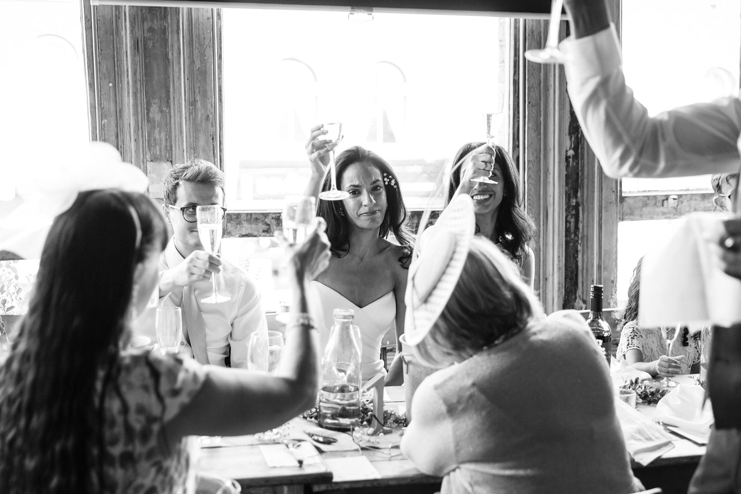 Tears during speeches at a wedding at the Elgin Pub in Maida Vale - London wedding photographer