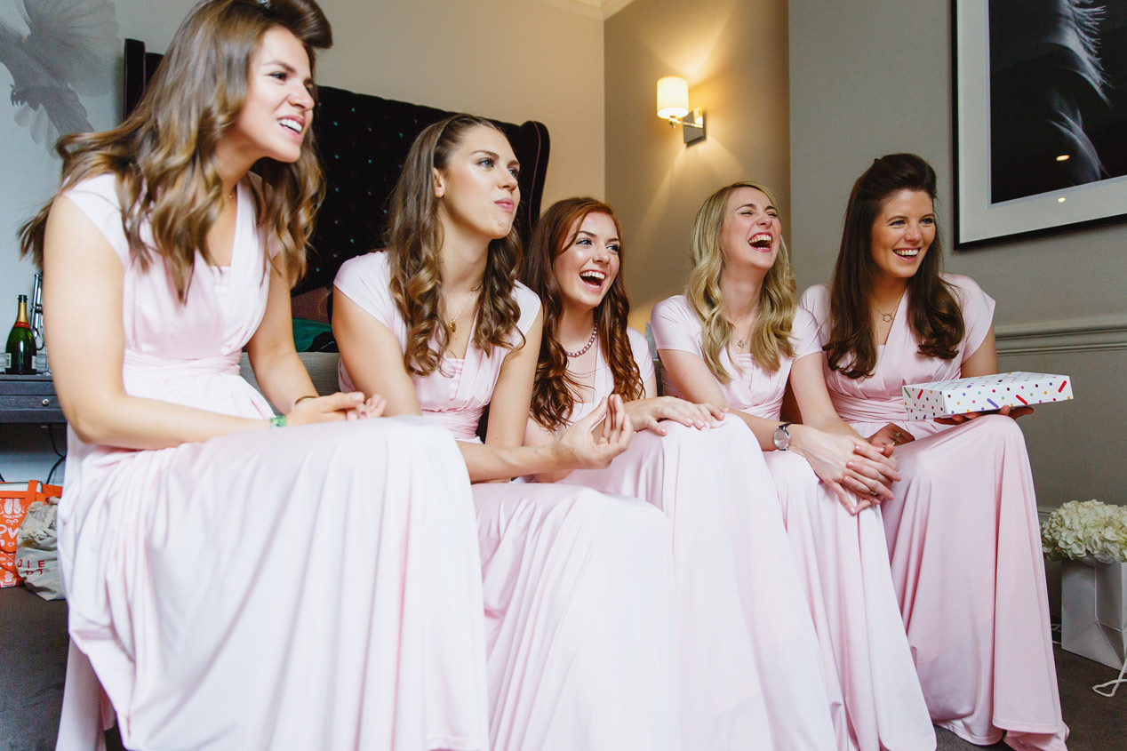 Bridesmaids at the Ampersand Hotel - London wedding photographer