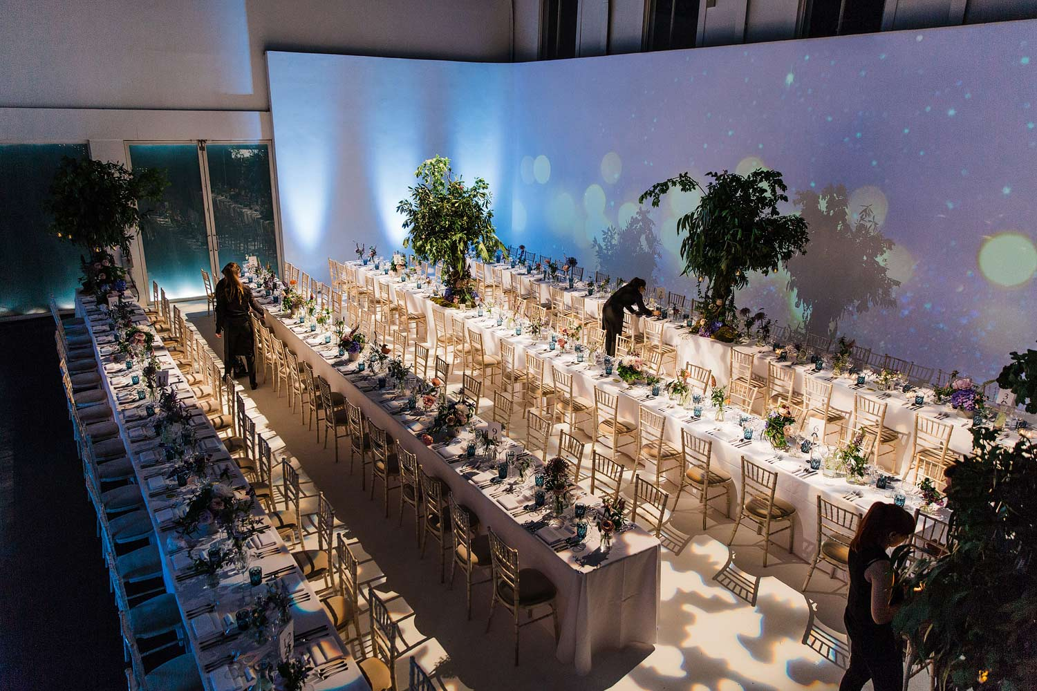 A wedding reception at Sunbeam Studios.