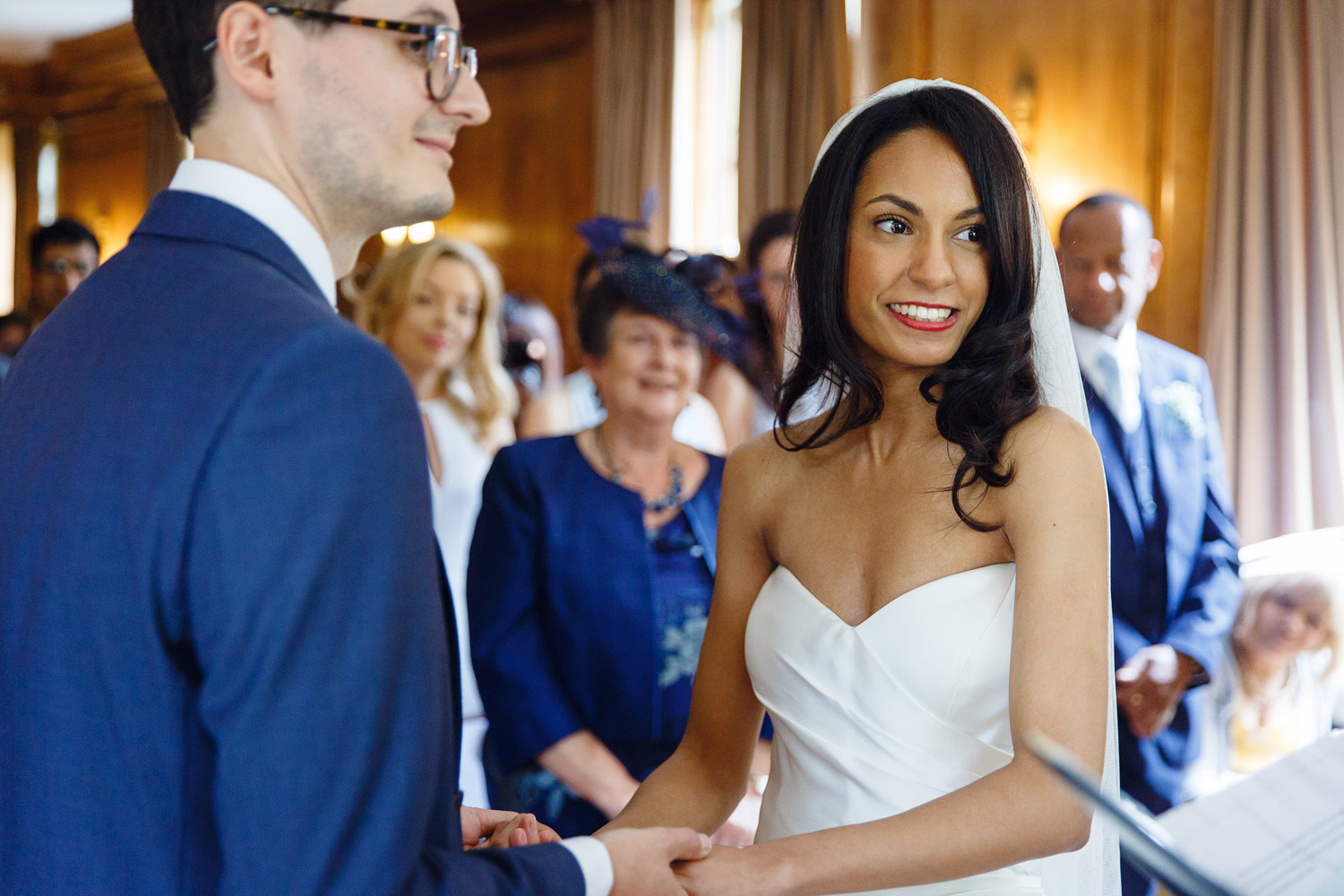 A wedding ceremony at Burgh House Museum in Hampstead, London - wedding photographer